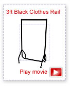 3ft Superior All Black Clothes Rail movie